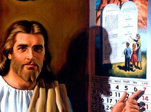 jesus apontando o sábado no calendário
