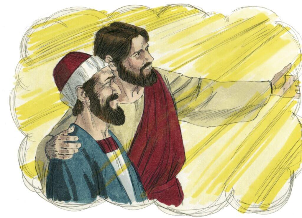 jesus abraçando um homem