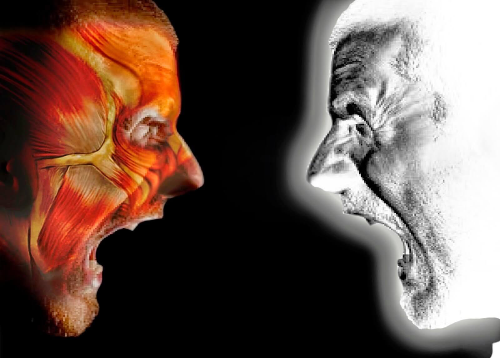 imagem ilustrativa do espírito e da carne se enfrentando