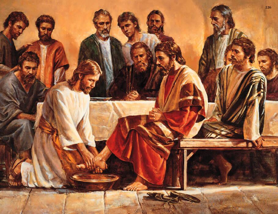 jesus lavando os pés dos discípulos