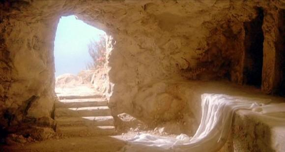 Imagem da tumba de Jesus vazia.